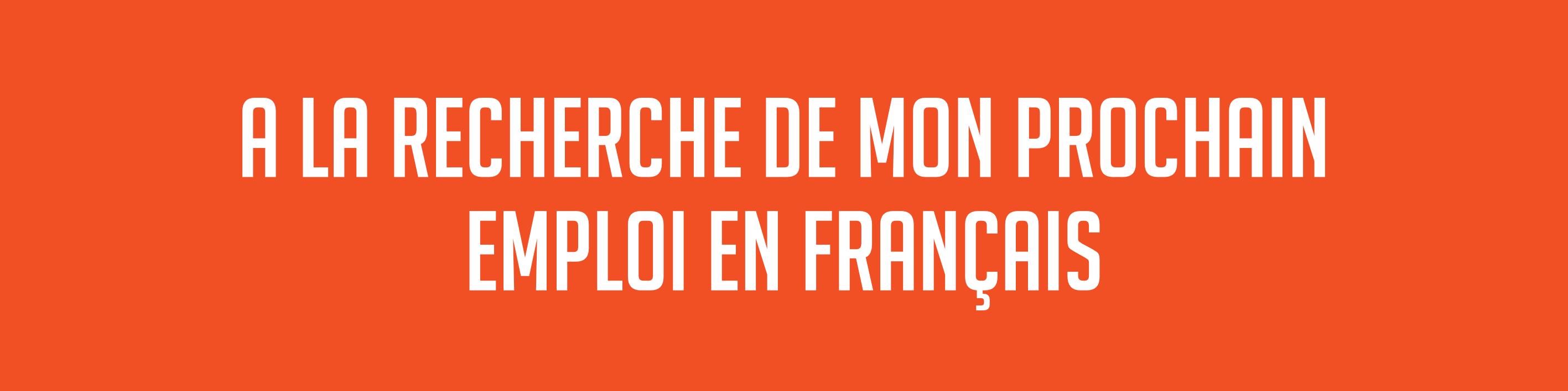 French vacancies